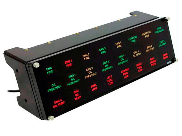 Панель управления SAITEK Pro Flight Backlit Information Panel