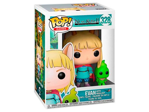 Фигурка FUNKO POP! Games: Ni no Kuni II: Revenant Kingdom - Evan with Higgledy (Эван и Хигглдис)