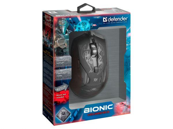 Мышь игровая DEFENDER Bionic GM-250L