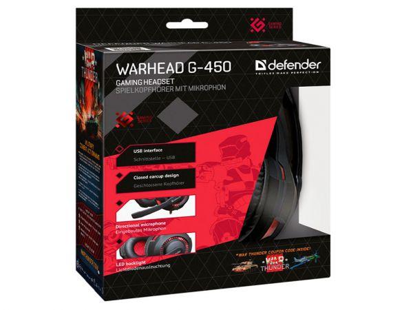Гарнитура игровая DEFENDER Warhead G-450