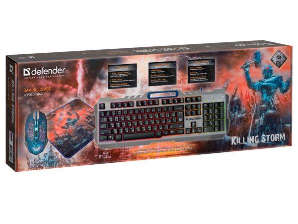 Комплект игровой DEFENDER Killing Storm MKP-013L