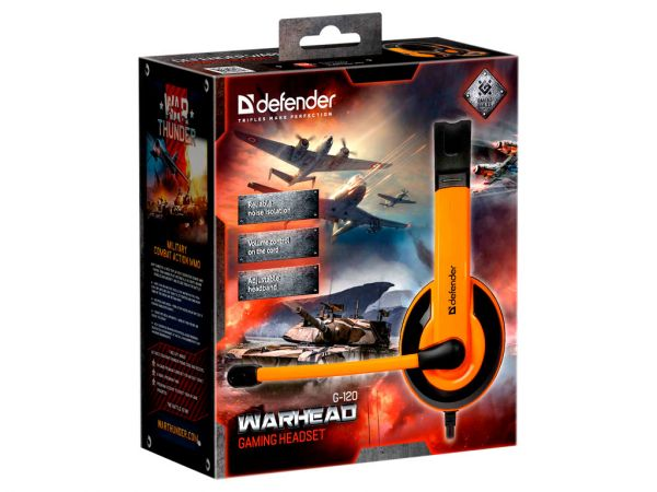 Гарнитура игровая DEFENDER Warhead G-120