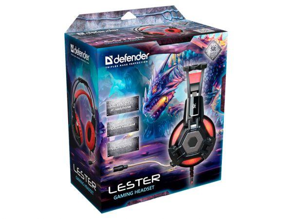 Гарнитура игровая DEFENDER Lester