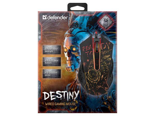 Мышь игровая DEFENDER Destiny GM-918