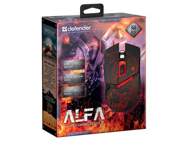Мышь игровая DEFENDER Alfa GM-703L