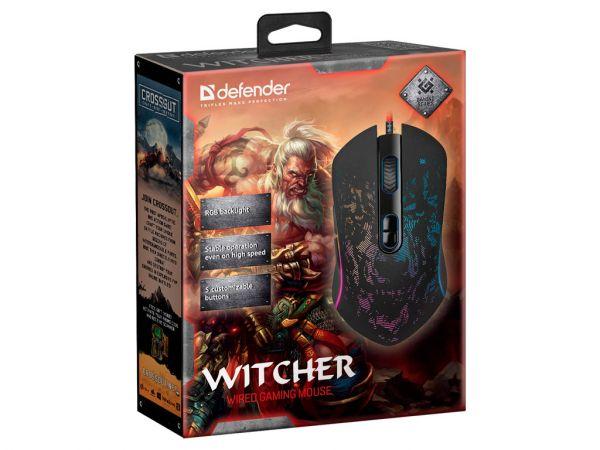 Мышь игровая DEFENDER Witcher GM-990