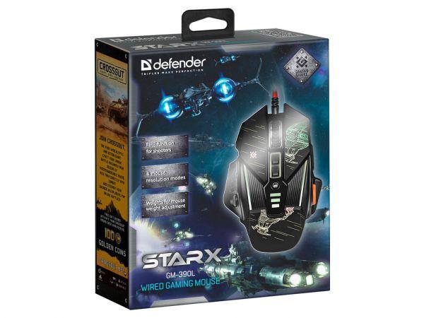 Мышь игровая DEFENDER Starx GM-390L