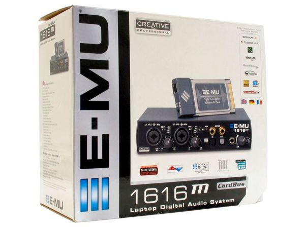 Внешняя звуковая карта 5.1 CREATIVE Professional E-MU 1616 CardBus